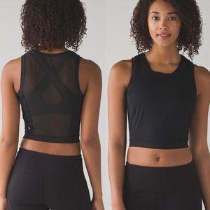 Lululemon free runner muscle tank mesh black